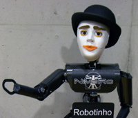 NimbRo TeenSize 2006 robot Robotinho with expressive head